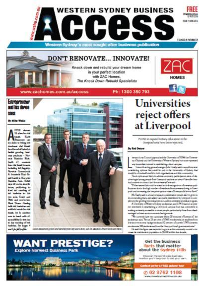 Norwest featured in Western Sydney Business Access